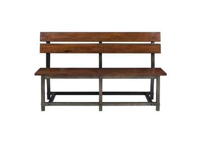 Image for Holverson Brown Bench W/ Back