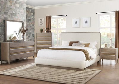 Eastern King Platform Bed, Fabric