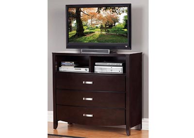 Image for Lyric Dark Espresso TV Chest