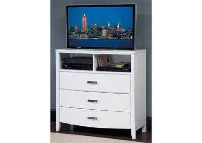 Lyric White TV Chest