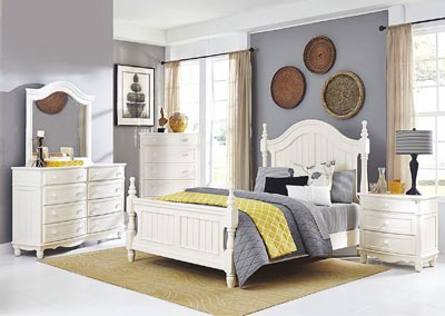 Clementine White California King Bed