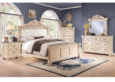 Russian Hill Antique White California King Bed