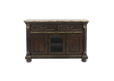 Image for Russian Hill Brown Server W/ Faux Marble Top