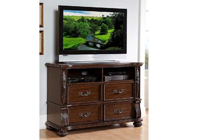Augustine Court Brown Cherry TV Chest