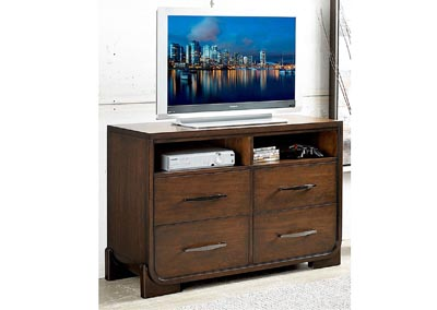 Image for Minato Brown Cherry TV Chest