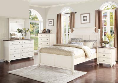 Floresville Antique White California King Platform Bed