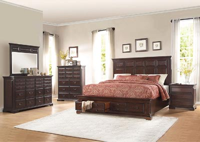 Cranfills Cherry Eastern King Storage Bed