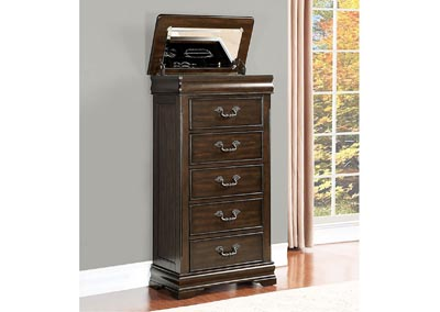 Mont Belvieu Cherry Lift-top Lingerie Drawer Chest