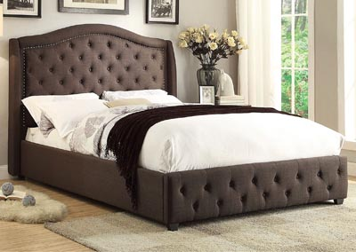 Queen Bed, Fabric