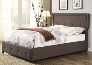Thain Dark Gray Upholstered California King Bed