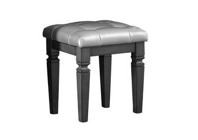 Image for Allura Grey Vanity Stool