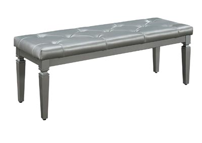 Image for Allura Silver Bed Bench