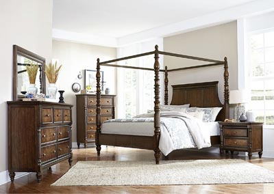 California King Canopy Poster Bed