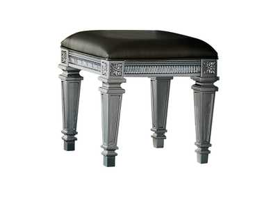 Bevelle Dark Grey Vanity Stool