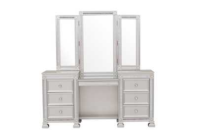 Image for Bevelle Dark Grey Vanity Dresser W/ Mirror