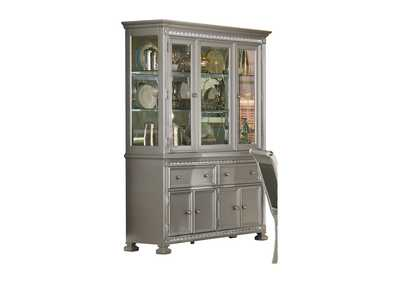 Image for Bevelle Grey Buffet & Hutch