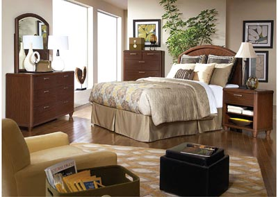 Beaumont Medium Brown Cherry Queen/Full Headboard