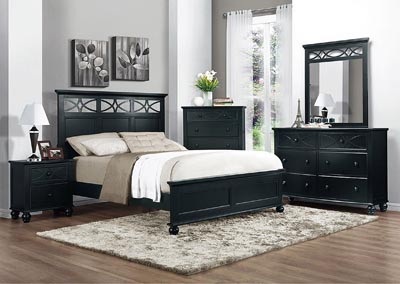 Sanibel Black Twin Panel Bed