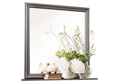 Mayville Stained Grey Mirror