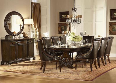 Orleans Rich Dark Cherry Rectangular Trestle Dining Room Table