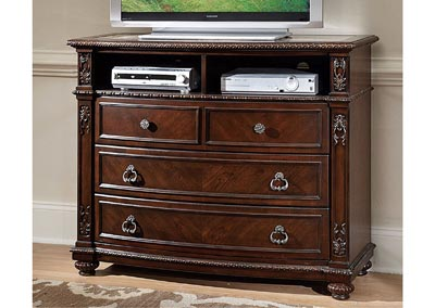Hillcrest Manor Marble Inset Media Chest