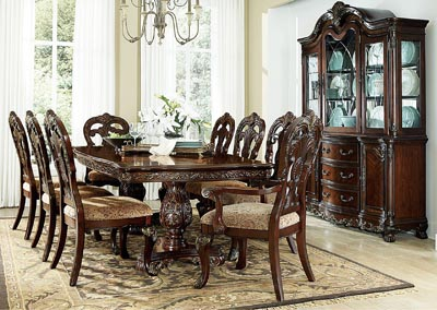 Deryn Park Dining Table Set w/2 Arm & 4 Sides