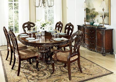 Deryn Park Oval Dining Table Set w/4 Sides