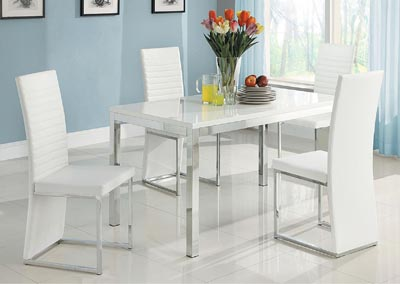 Clarice Dining Table Set w/4 Side Chairs