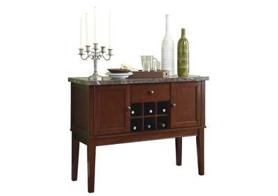 Image for Decatur Brown Server W/ Marble Top