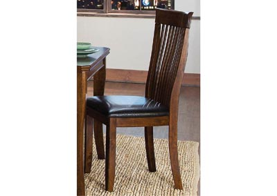 Alita Warm Cherry Side Chair (Set of 2)