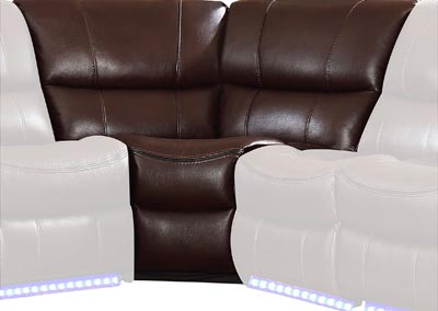 Pecos Dark Brown Corner Seat