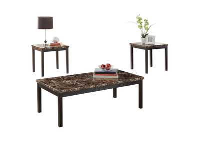 Image for Tempe Brown 3 Piece Occasional Table Set