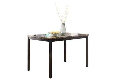Image for Tempe Brown Faux Marble Top Dining Table
