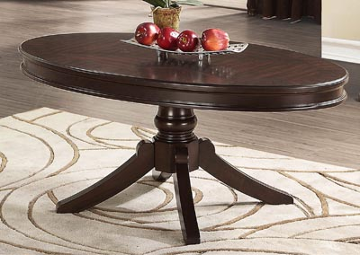 Martson Dark Cherry Oval Cocktail Table