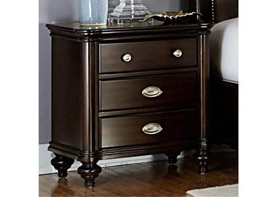 Marston Dark Cherry 3 Drawer Nightstand