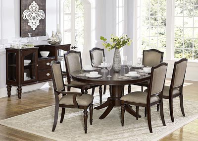 Dining Table w/4 Side Chairs & 2 Arm Chairs