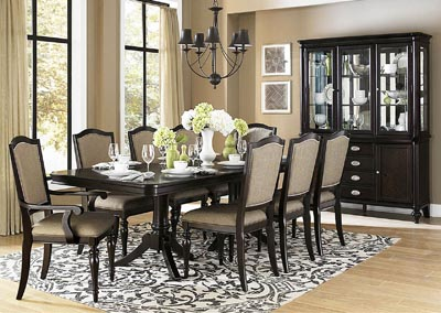 Marston 7 Piece Dark Cherry Extension Dining Table Set w/2 Arm Chairs & 4 Side Chairs
