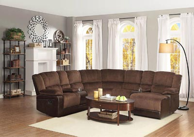 Hankins Chocolate Left Facing Loveseat Sectional