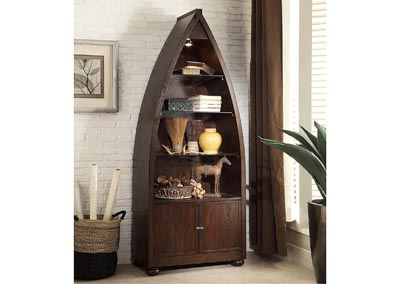 Hatchett Lake Bookcase Boat w/2 Doors & 4 Shelves