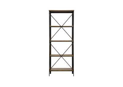Penpoint Natural & Black Metal Bookcase