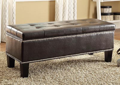 Reverie Black Lift-Top Storage Bench