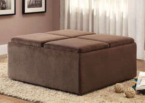 Kaitlyn Cocktail Ottoman w/Casters