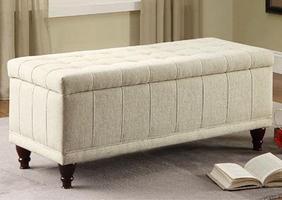 Afton Cream Lift-Top Ottoman Bench