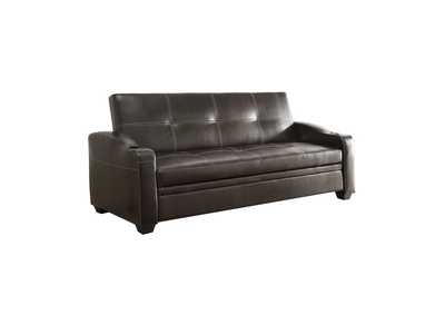 Caffery Dark Brown Elegant Lounger