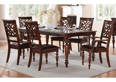 "Image for Creswell 78"" 7 Piece Cherry Dining Table Set w/2 Arm Chairs & 4 Side Chairs"