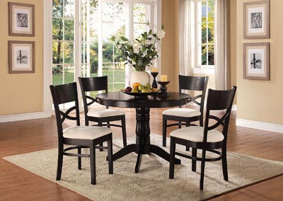Clancy Black 5 Piece Black Round Dinette Set