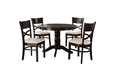 Image for Clancy Beige & Black 5 Piece Dinette Set