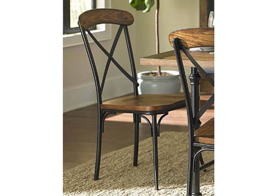 Millwood Distressed Ash & Metal Side Chair