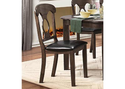 Lemoore Weathered Brown Napolean-Back Side Chair