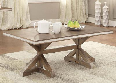 Beaugrand Light Oak Cocktail Table